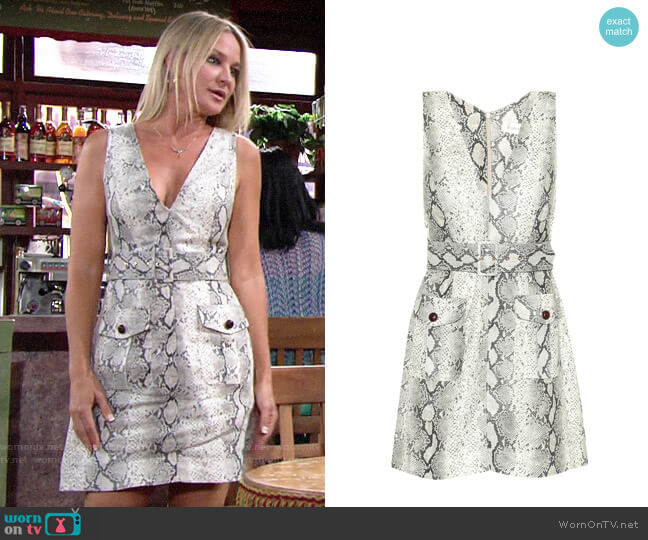 Zimmermann Corsage Safari Linen Dress worn by Sharon Collins (Sharon Case) on The Young & the Restless