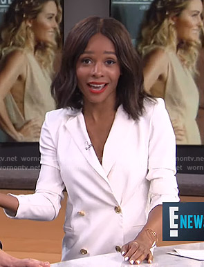 Zuri's white blazer dress on E! News