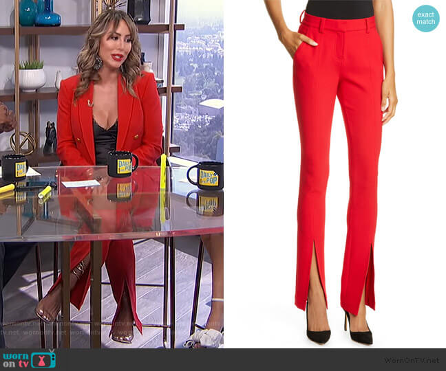 Conway Front Slit Pants by A.L.C. worn by Kelly Dodd on E! News Daily Pop