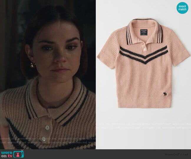 Icon Sweater Polo by Abercrombie & Finch worn by Callie Foster (Maia Mitchell) on Good Trouble