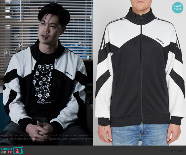Palmeston Track Jacket by Adidas worn by Zach Dempsey (Ross Butler) on 13 Reasons Why