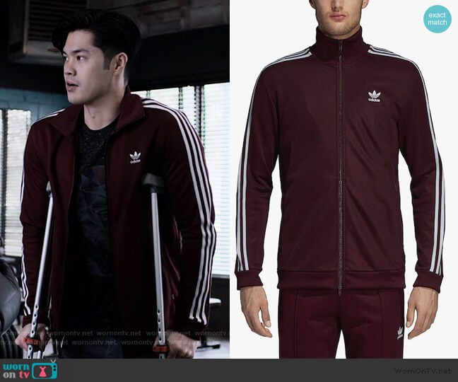 Beckenbauer Track Jacket by Adidas worn by Zach Dempsey (Ross Butler) on 13 Reasons Why