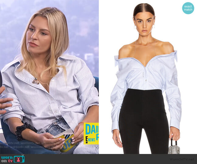 Falling Shirt by Alexander Wang worn by Morgan Stewart  on E! News