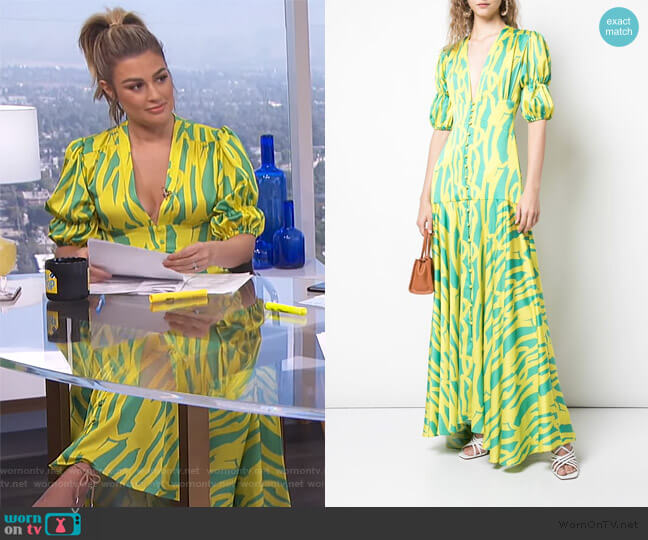 Zuella Summer Dress by Alexis worn by Carissa Loethen Culiner  on E! News