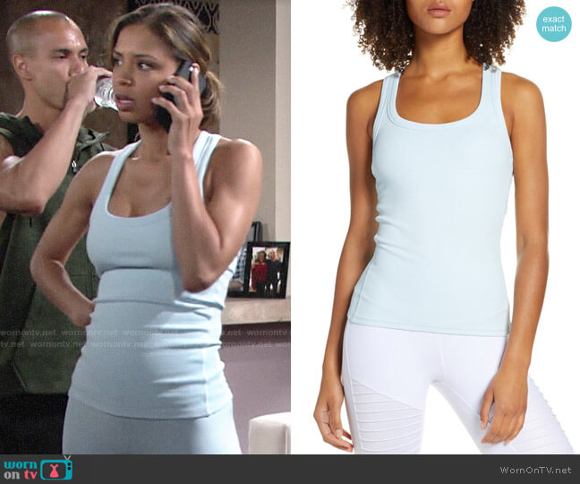 Alo Yoga Rib Support Tank worn by Elena Dawson (Brytni Sarpy) on The Young & the Restless