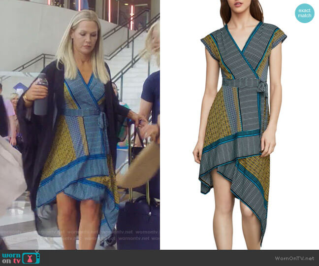 Printed Faux Wrap Dress by Bcbgmaxazria worn by Jennie Garth  on BH90210