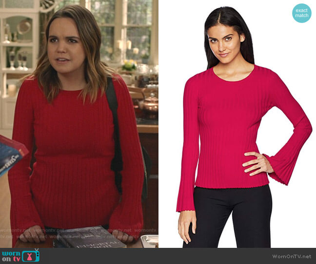 Cossak Ribbed Bell-Sleeve Sweater by Bailey 44 worn by Grace Russell (Bailee Madison) on Good Witch