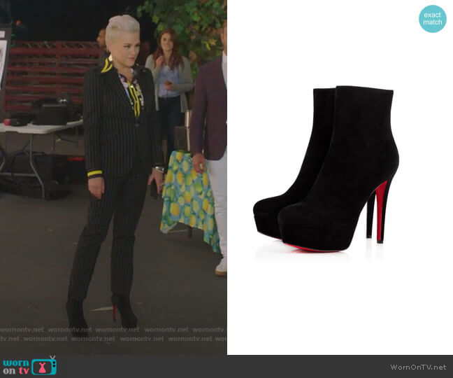 Bianca Booty by Christian Louboutin worn by Christine Elise  on BH90210