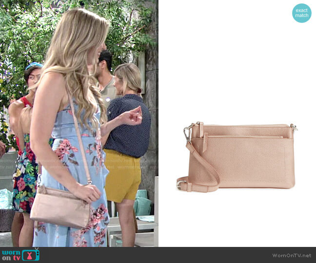 Nordstrom Brixton Convertible Leather Crossbody Bag worn by Zoe Hardisty (Anna Grace Barlow) on The Young & the Restless