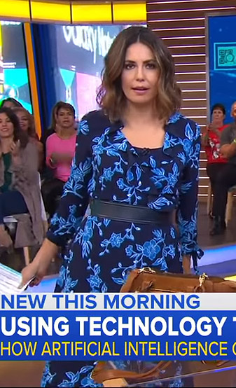 Cecilia's blue floral wrap dress on Good Morning America