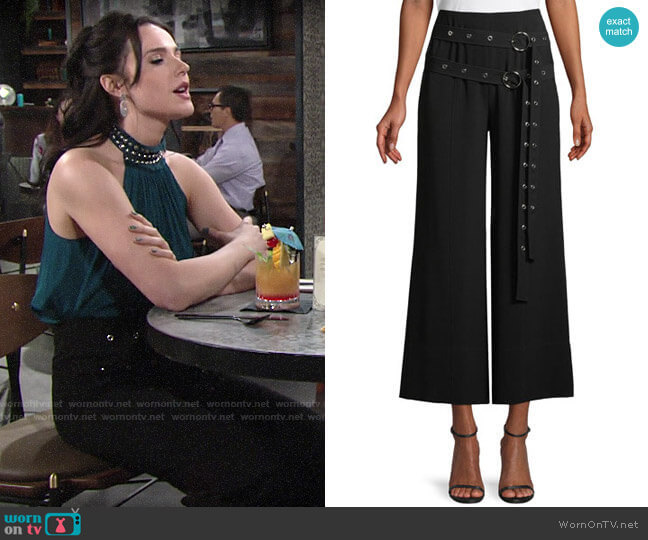 Cinq a Sept Jessi Pants worn by Tessa Porter (Cait Fairbanks) on The Young & the Restless