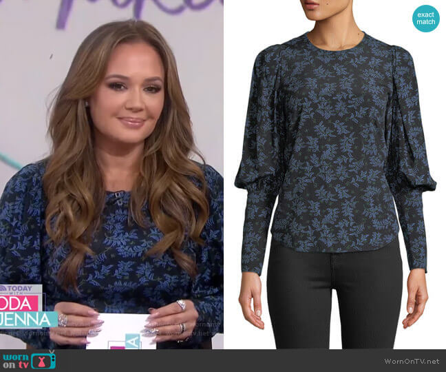 Clarke Top by Veronica Beard worn by Leah Remini on Today