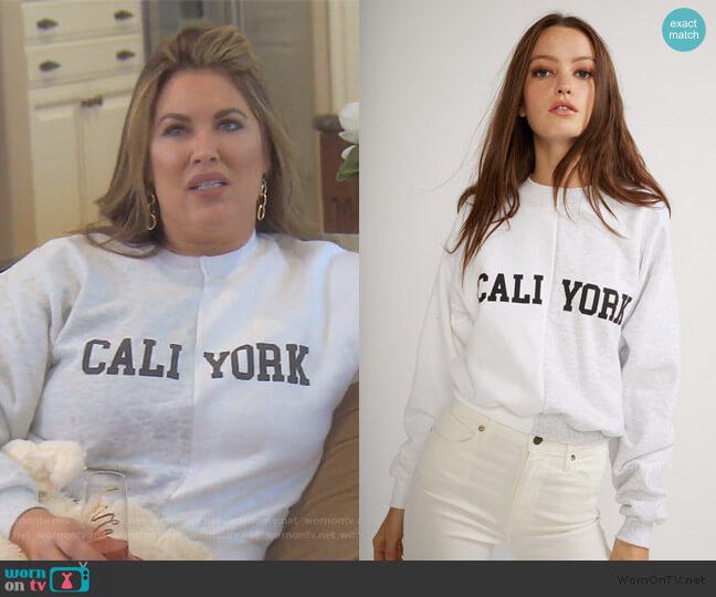 Cali York Sweatshirt by Cynthia Rowley worn by Emily Simpson  on The Real Housewives of Orange County