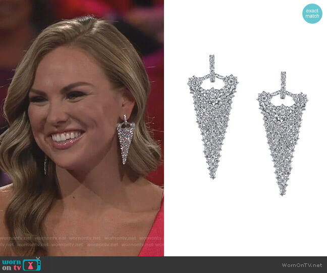 Evening Affair Diamond Earrings by Dena Kemp worn by Hannah Brown  on The Bachelorette