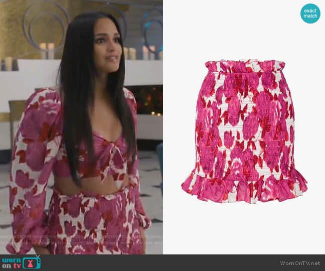 Electric Skirt by Alice McCall worn by Carolina (Feliz Ramirez) on Grand Hotel