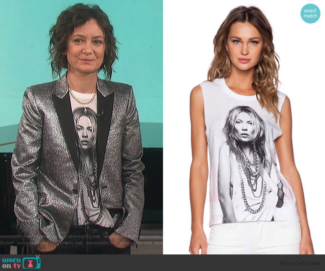 Kate Moss Tank by Eleven Paris worn by Sara Gilbert  on The Talk