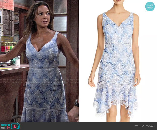 Elie Tahari Mariya Embroidered Lace Dress worn by Celeste Rosales (Eva LaRue) on The Young & the Restless