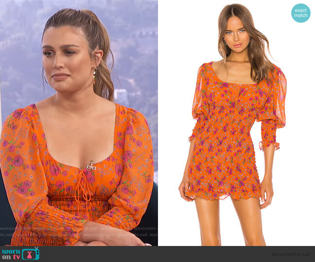 Peony Mini Dress by For Love & Lemons worn by Carissa Loethen Culiner  on E! News
