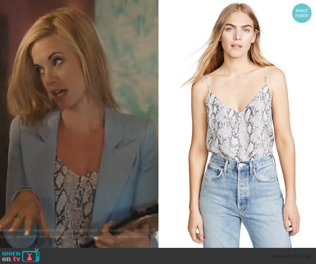 Classic Cami by Frame worn by Kelly Anne Van Awken (Molly Burnett) on Queen of the South