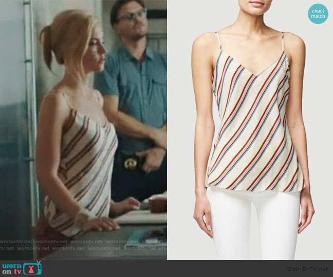 Classic Silk Cami by Frame worn by Kelly Anne Van Awken (Molly Burnett) on Queen of the South