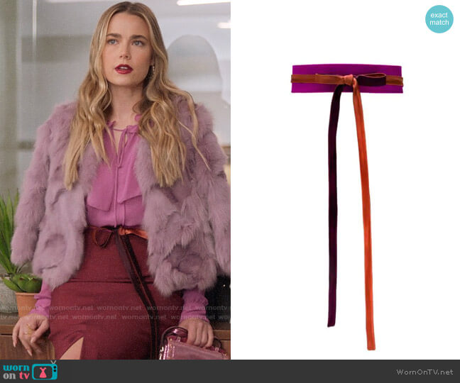 Gianluca Capannolo Tie Fastening Belt worn by Ainsley Howard (Rebecca Rittenhouse) on Four Weddings & a Funeral