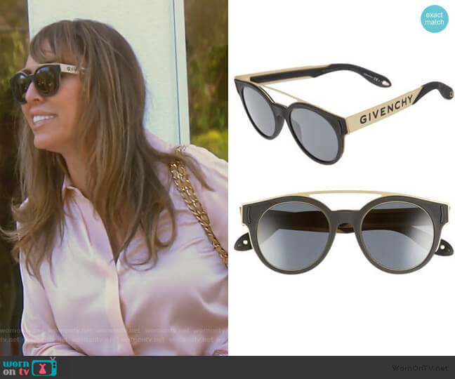 50mm Round Sunglasses by Givenchy worn by Kelly Dodd  on The Real Housewives of Orange County