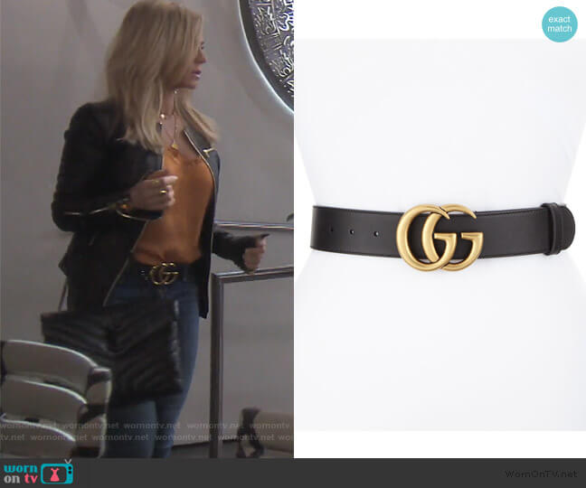 GG Buckle Belt by Gucci worn by Tamra Judge  on The Real Housewives of Orange County