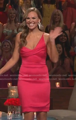 Hannah's pink asymmetric dress on The Bachelorette