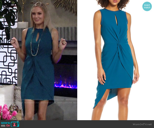 Harlyn Asymmetrical Sheath Dress worn by Abby Newman (Melissa Ordway) on The Young & the Restless