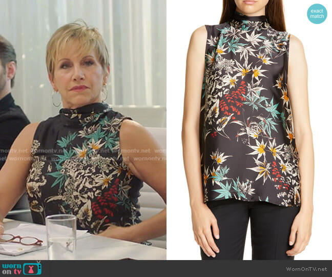 Anders Print Blouse by Judith &Charles worn by Gabrielle Carteris  on BH90210