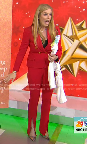 Jill's red suit on Today