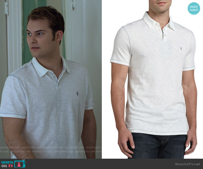 Slim Fit Peace Polo by John Varvatos worn by Justin Prentice on 13 Reasons Why