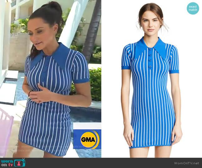 Knit Polo Mini Dress by JoosTricot worn by Jessica Mulroney on GMA