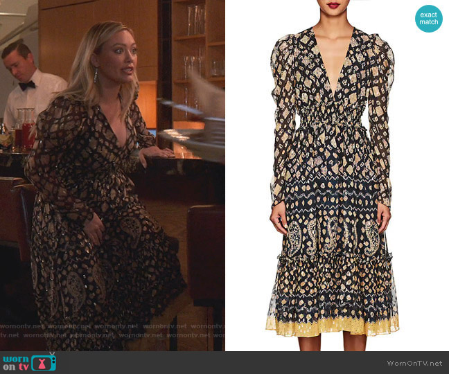 Karolina Dress by Ulla Johnson worn by Kelsey Peters (Hilary Duff) on Younger
