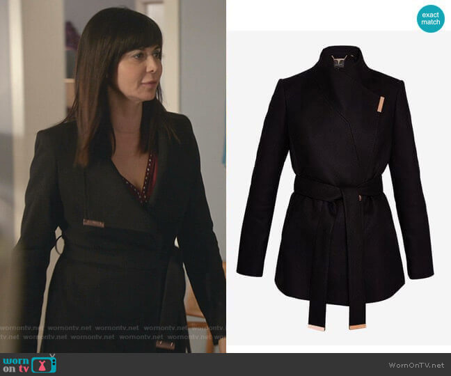 Keyla Coat by Ted Baker worn by Cassandra Nightingale (Catherine Bell) on Good Witch