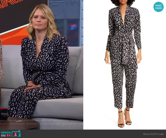 Kieran Jumpsuit by A.L.C. worn by Sara Haines  on Good Morning America