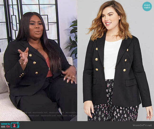 Bryant Blazer - Double Breasted Ponte by Lane Bryant worn by Nina Parker  on E! News