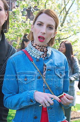 Lauren's embellished collar denim jacket on Younger