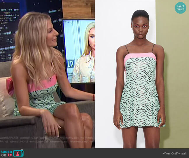 Lettie Zebra Dress by Olivia Rubin worn by Morgan Stewart  on E! News