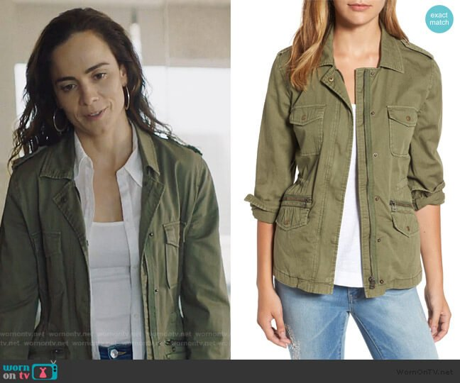 Lily Aldridge Jacket by Velvet By Graham & Spencer worn by Teresa Mendoza (Alice Braga) on Queen of the South