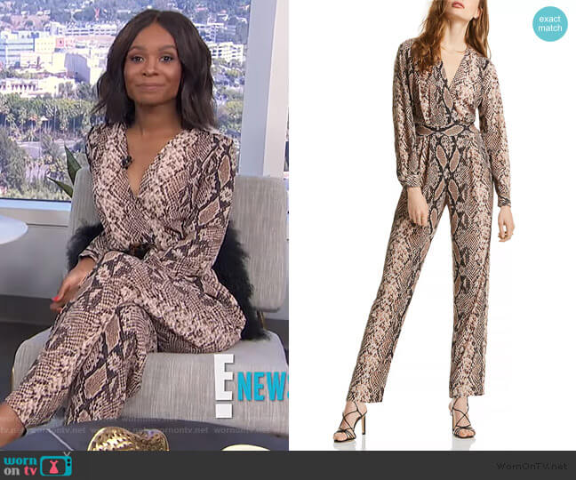 Stella Snake Print Jumpsuit by Lini worn by Zuri Hall  on E! News
