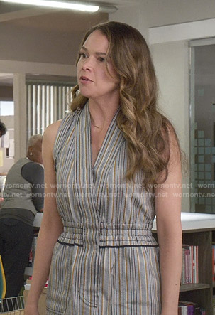 Kelsey's cream romper on Younger