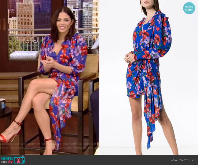 Lagos Mini Dress by Magda Butrym worn by Jenna Dewan on Live with Kelly and Ryan