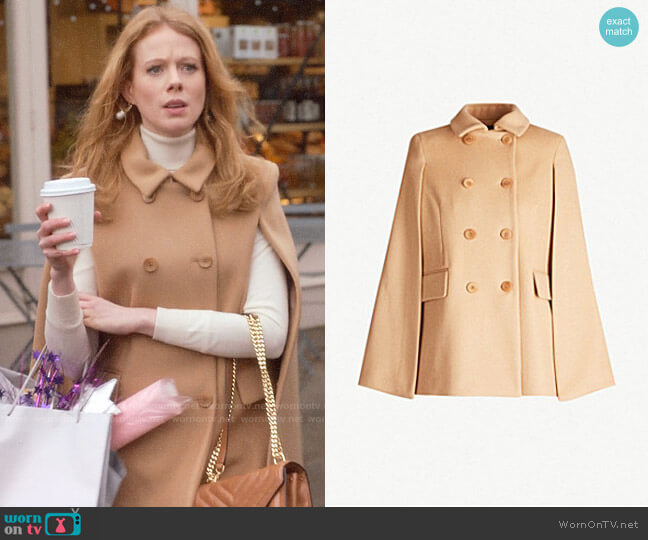 Maje Garmi Coat worn by Gemma (Zoe Boyle) on Four Weddings & a Funeral