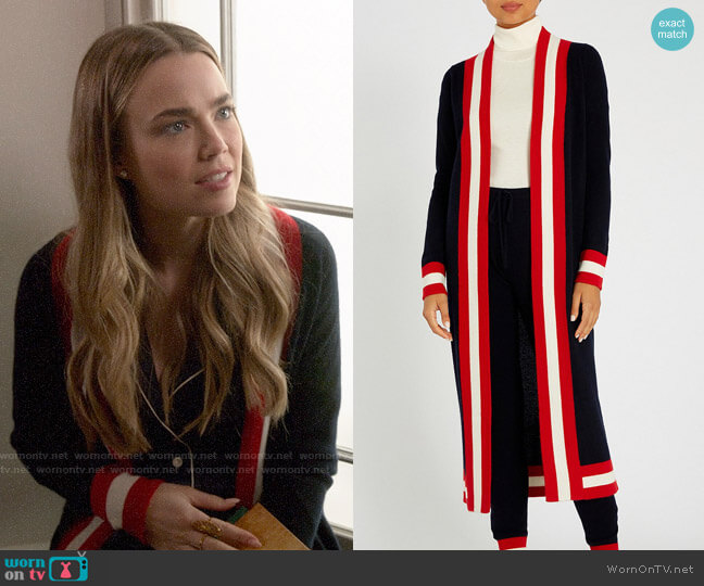 Madeleine Thompson Calypso Cashmere Robe worn by Ainsley Howard (Rebecca Rittenhouse) on Four Weddings & a Funeral