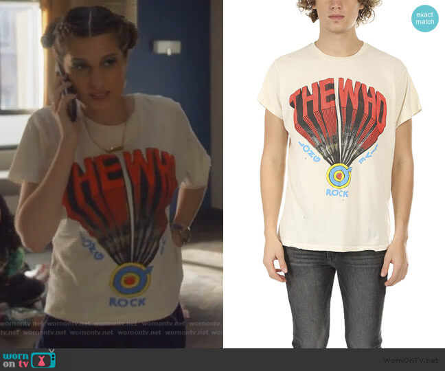 The Who Tee by Madeworn worn by Nomi Segal (Emily Arlook) on Grown-ish