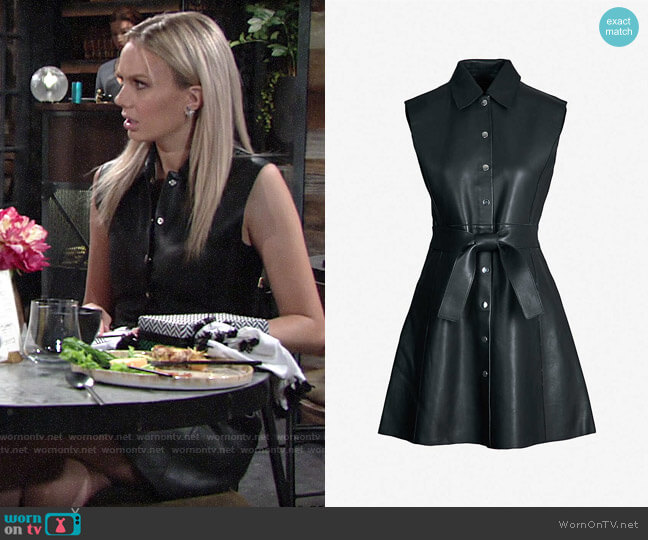Maje Ranjit Dress worn by Abby Newman (Melissa Ordway) on The Young & the Restless