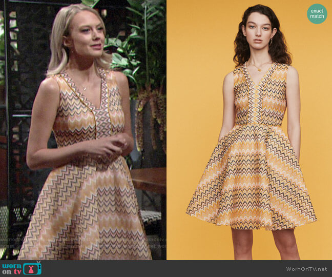 Maje Reinetta Dress worn by Abby Newman (Melissa Ordway) on The Young & the Restless