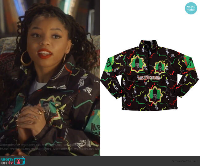 Lost Ones Sweater by Melody Ehsani worn by Jazlyn Forster (Chloe Bailey) on Grown-ish