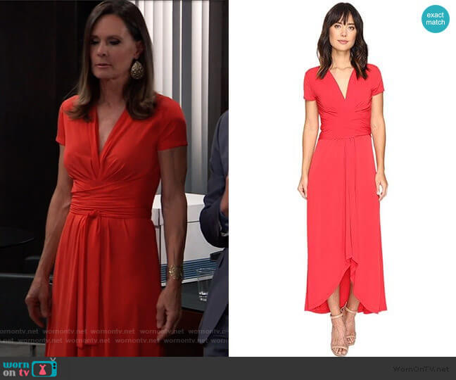 MICHAEL Michael Kors Short Sleeve Maxi Wrap Dress worn by Lucy Coe (Lynn Herring) on General Hospital